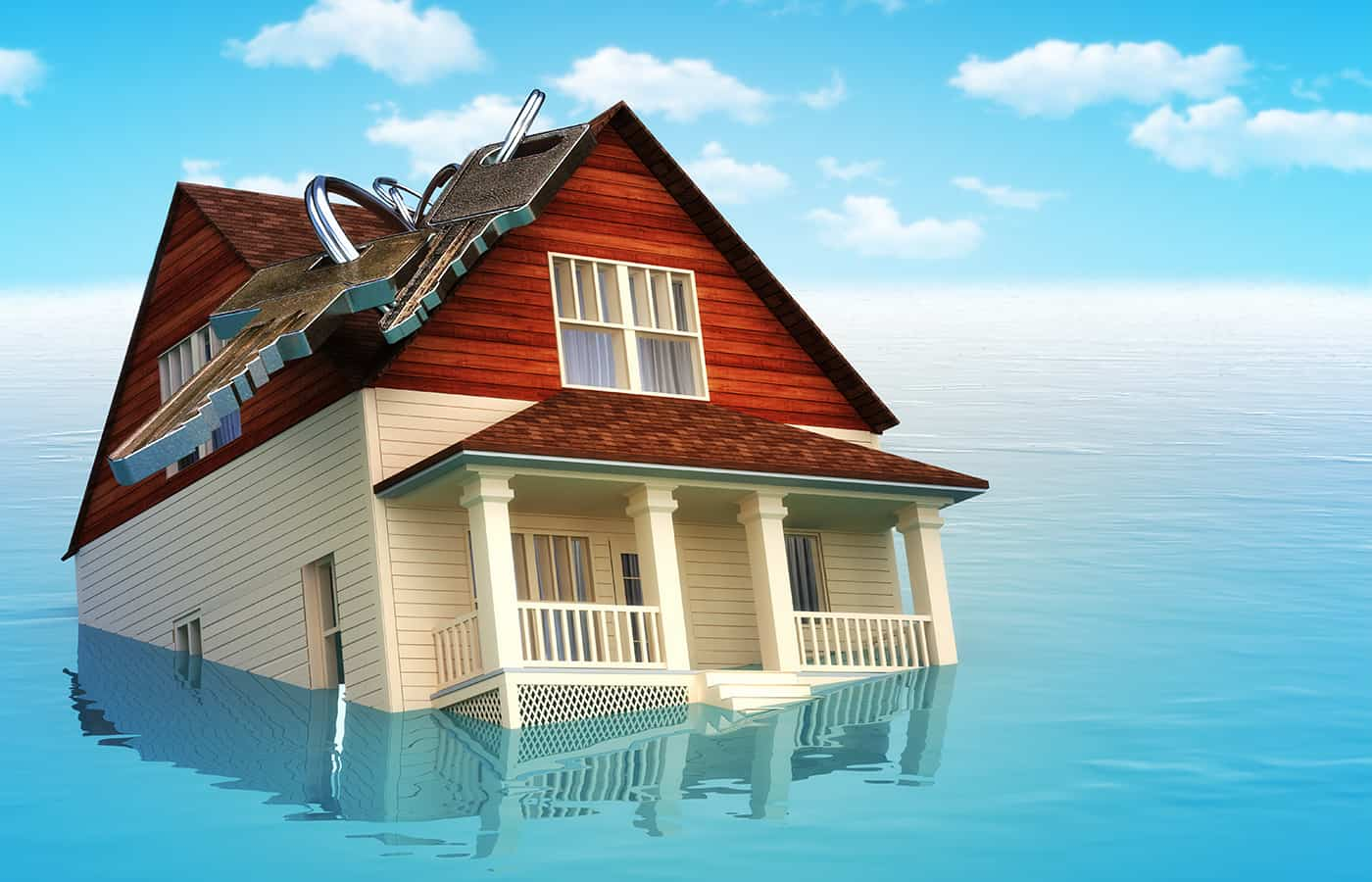 house with an underwater mortgage